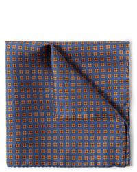 Bufanda de seda estampada azul marino de J.Crew