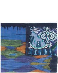 Bufanda de Seda Estampada Azul de Etro