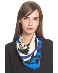 Bufanda de seda estampada azul de Jimmy Choo