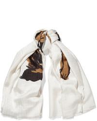 Bufanda de seda estampada blanca de Balenciaga