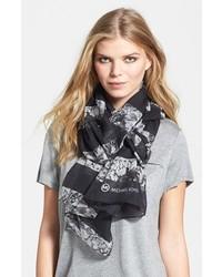 Bufanda de seda estampada en negro y blanco de MICHAEL Michael Kors
