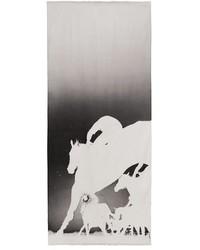 Bufanda de seda estampada gris de Akris