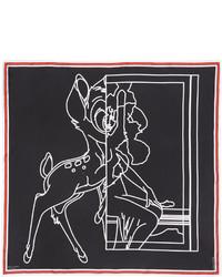 Bufanda de seda estampada negra de Givenchy