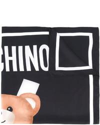 Bufanda de seda estampada negra de Moschino