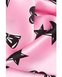 Bufanda de seda estampada violeta claro de Moschino