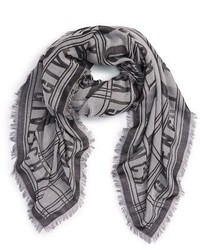Bufanda de seda gris de Givenchy