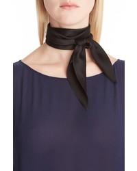 Bufanda de seda negra de Chloé