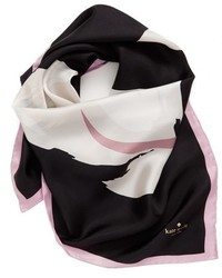 Bufanda de seda negra de Kate Spade