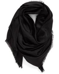 Bufanda de seda negra de Marc Jacobs