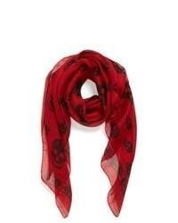 Bufanda de seda roja