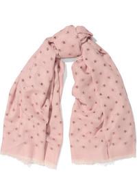 Bufanda de seda rosada de Valentino
