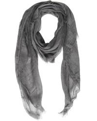 Bufanda de seda tejida en gris oscuro de Destin Surl