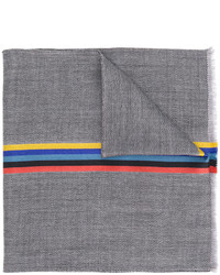 Bufanda de seda tejida gris de Paul Smith