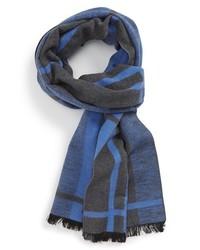 Bufanda de tartán azul