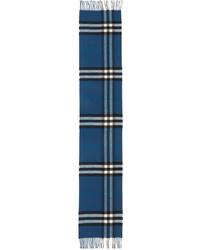 Bufanda de tartán azul de Burberry