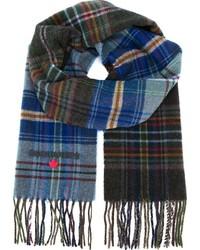 Bufanda de tartán azul de DSQUARED2