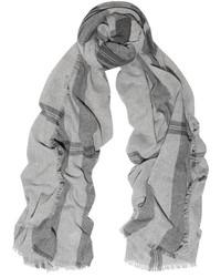 Bufanda de tartán gris de Tomas Maier