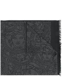 Bufanda en gris oscuro de Versace