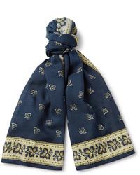Bufanda Estampada Azul Marino