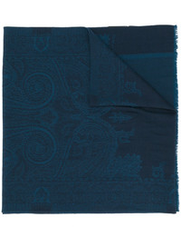 Bufanda estampada azul marino de Etro