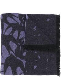 Bufanda estampada azul marino de MCQ