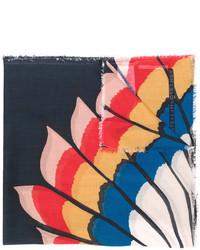 Bufanda estampada azul marino de Stella McCartney