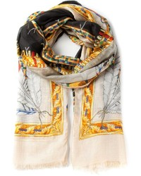 Bufanda Estampada Beige de Versace