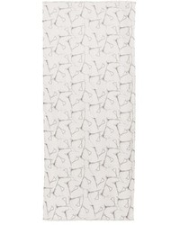 Bufanda Estampada Blanca de Akris