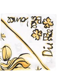 Bufanda estampada blanca de Christian Dior