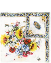Bufanda estampada blanca de Dolce & Gabbana