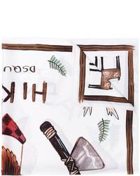 Bufanda estampada blanca de DSQUARED2