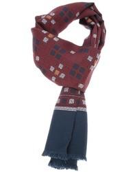 Bufanda estampada burdeos de Dolce & Gabbana