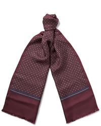 Bufanda estampada burdeos de Gucci