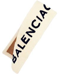 Bufanda estampada en beige de Balenciaga