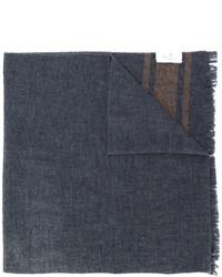 Bufanda estampada en gris oscuro de Brunello Cucinelli