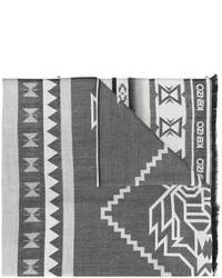 Bufanda estampada en gris oscuro de Kenzo