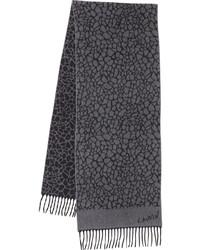 Bufanda estampada en gris oscuro de Lanvin