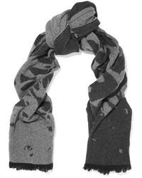 Bufanda estampada en gris oscuro de MCQ