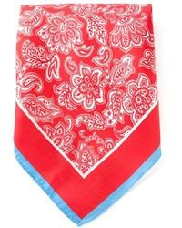Bufanda estampada en rojo y blanco de Kiton