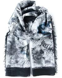 Bufanda estampada gris de McQ by Alexander McQueen