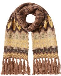 Bufanda estampada marrón claro