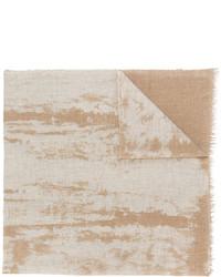 Bufanda estampada marrón claro de Fabiana Filippi