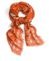 Bufanda Estampada Naranja de Alexander McQueen