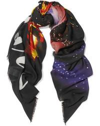 Bufanda estampada negra de Balenciaga
