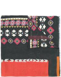 Bufanda estampada negra de Etro