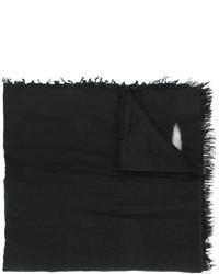 Bufanda estampada negra de Faliero Sarti