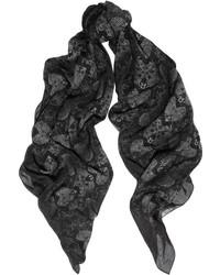 Bufanda estampada negra de Marc by Marc Jacobs