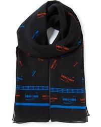 Bufanda estampada negra de McQ by Alexander McQueen