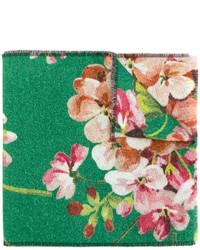 Bufanda estampada verde de Gucci