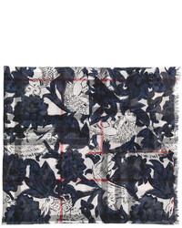 Bufanda ligera a cuadros azul marino de Burberry